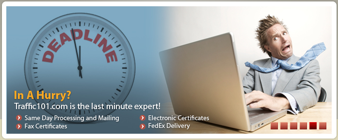 Get your certificates quickly by fax, FedEx, or electronically.